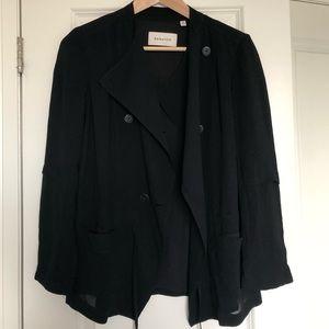 Babaton Hamelin Jacket in Black Crepe